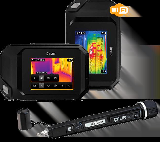 illustration de la camera thermique flir C3 avec son style testeur d'humidité