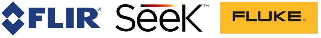 illustration affichant les principaux logos des meilleures fabricants de caméras thermiques