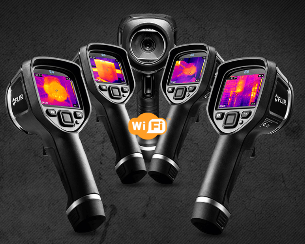 photo de plusieurs caméra thermiques qui possendent une connexion wifi intégrée
