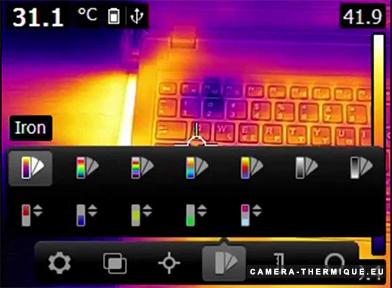 photo de l'écran de la caméra flir e4
