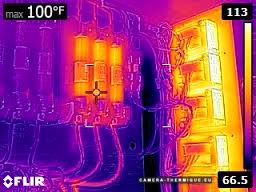 illustration montrant une capture d'écran faite avec la caméra thermique flir e8