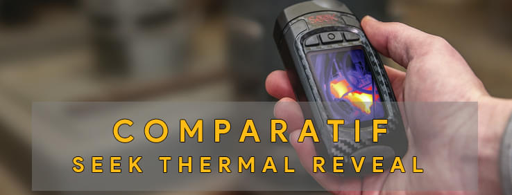 illustration du grand test comparatif des cameras thermiques seek thermal reveal