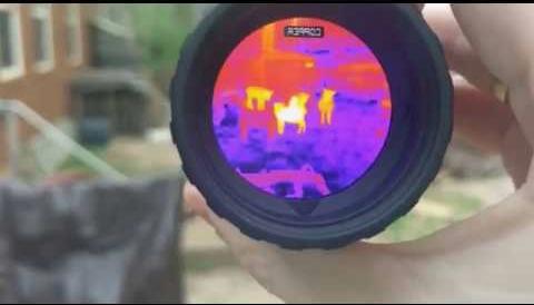 photo du viseur de la caméra thermique (monoculaire) leupold lto tracker