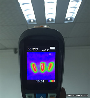photo montrant la camera thermique perfect prime ir0002 en plein test