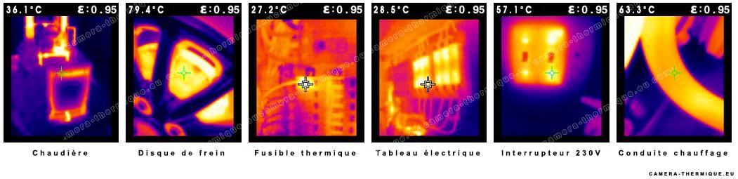 illustration montrant les differentes temperatures les plus rencontrées dans l'usage quotidien d'une caméra thermique
