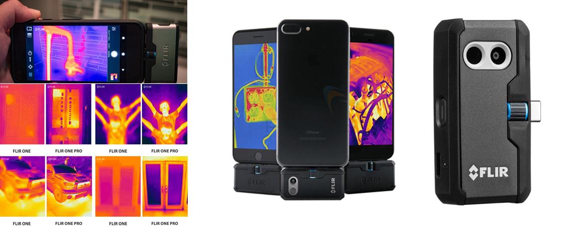 photos de la camera thermique pour smartphone flir one pro