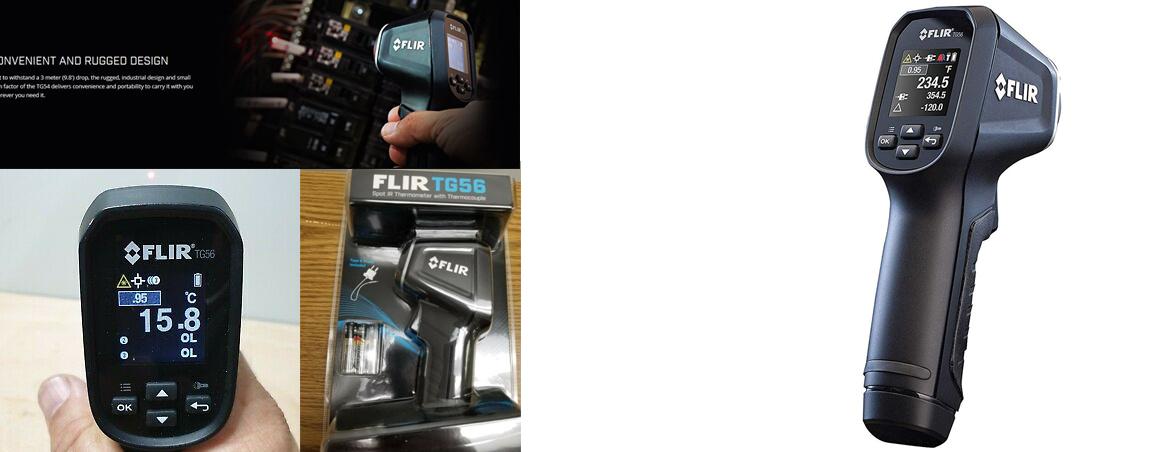 photos du thermometre infrarouge flir tg56