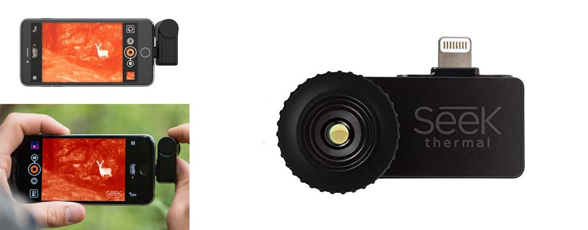 photos de la camera thermique pour smartphone seek xr