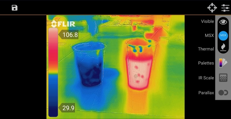 photo app flir one pro pour smartphone